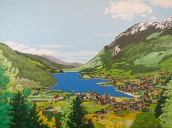 Above Lake Sarnen by Jonathan Chapman