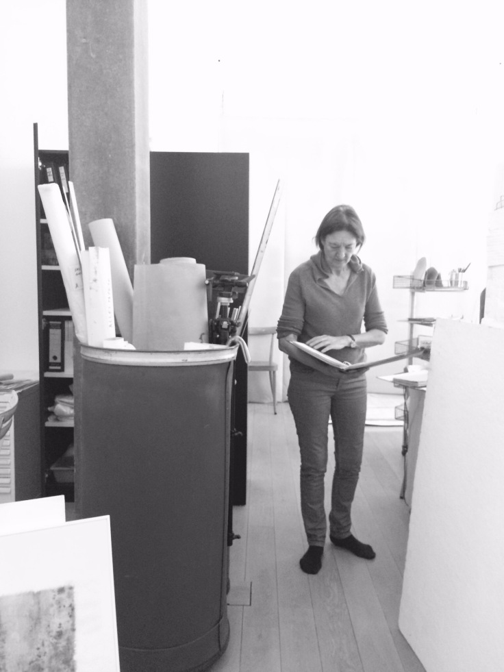 Helena Krähenbühl in the Studio